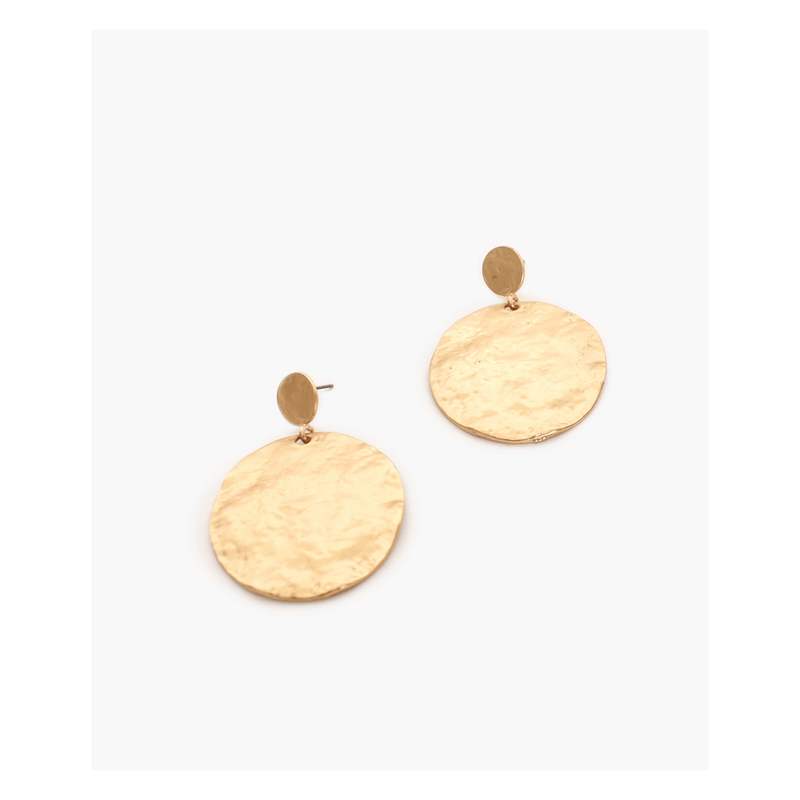 Statement Beaten Disc Earrings
