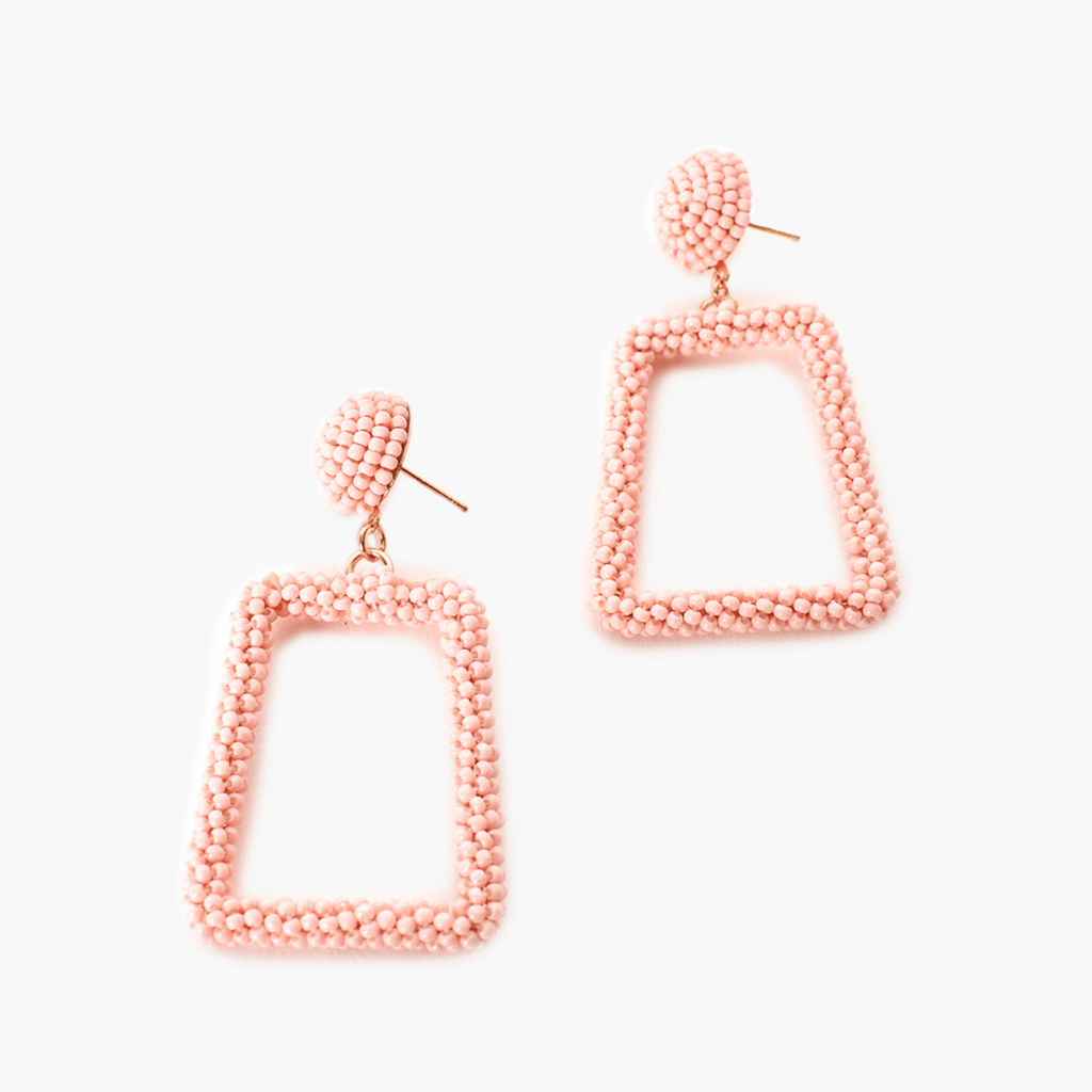 Midi Beaded Geo Shape Earrings