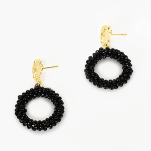 Mini Bead Ring Drop Earrings