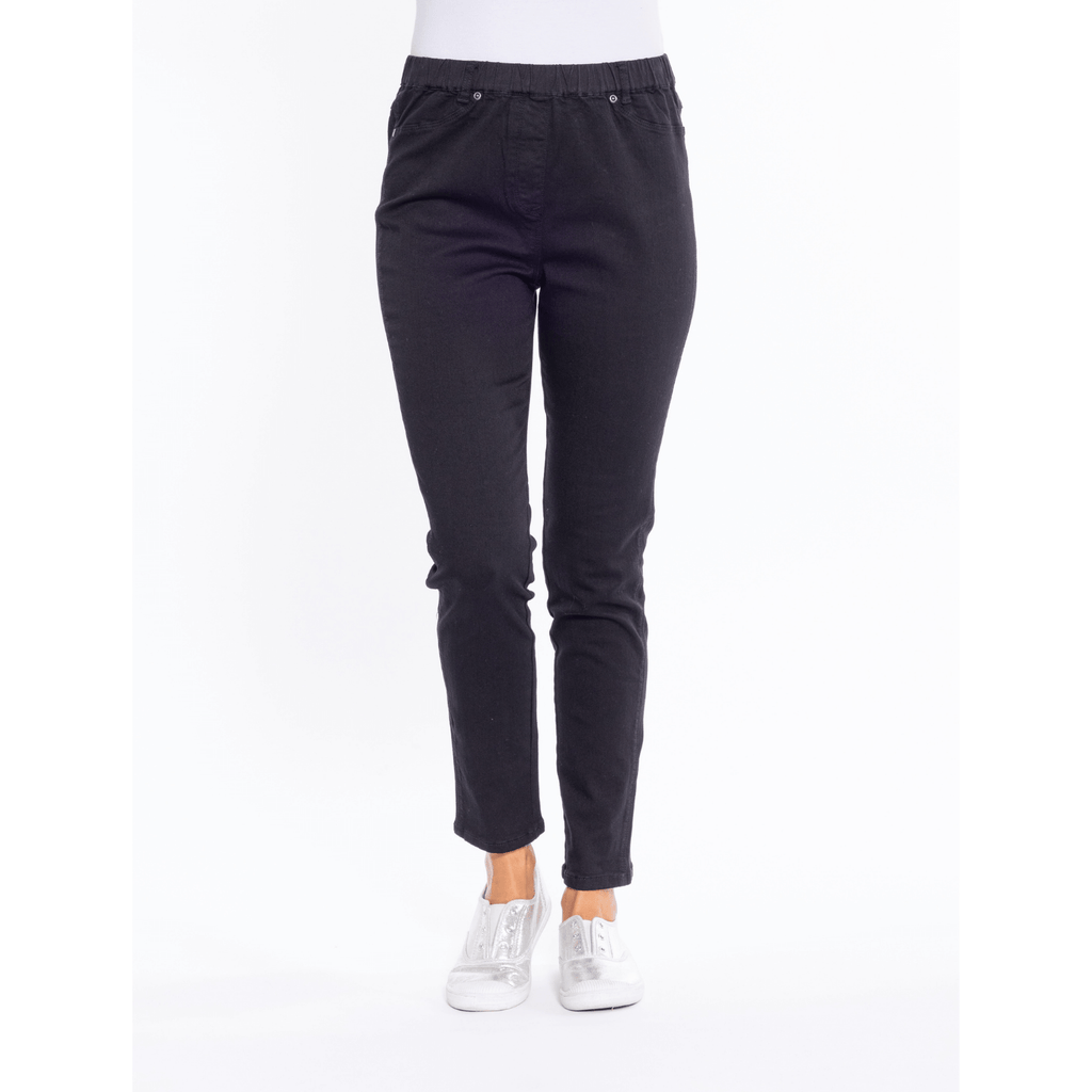 Black Stretch Cotton Jegging