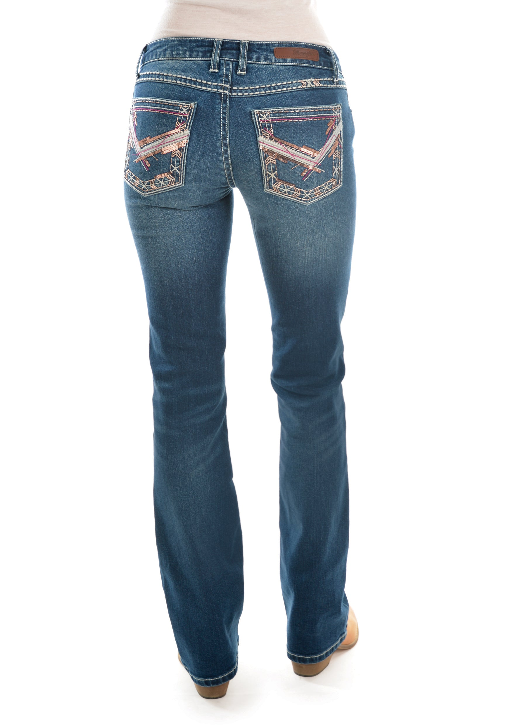 Rocks & Indigo Womens Plus Size Boot Cut Jeans