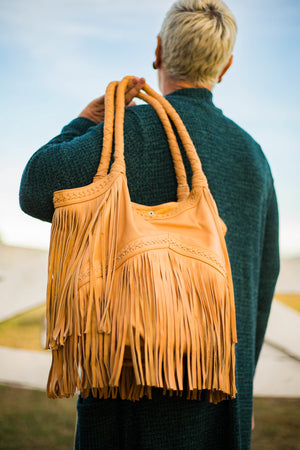 Stitch & Fringe Slouch Bag - Vault Country Clothing