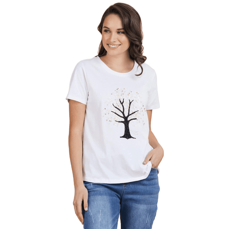 Tree Motif Tee - Vault Country Clothing