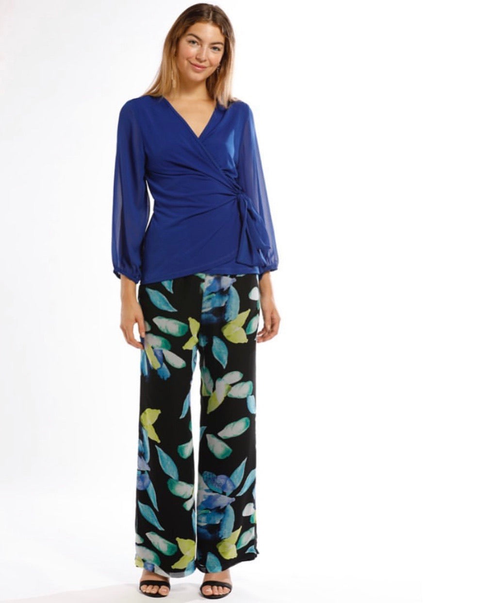 Chiffon Floral Pants - Vault Country Clothing