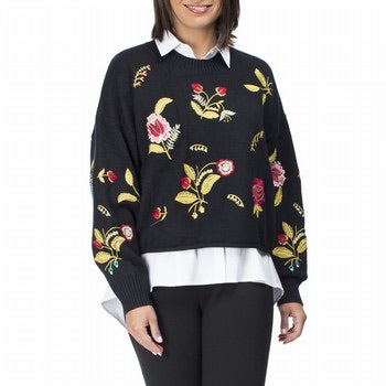 Floral Knit Jumper - Vault Country Clothing