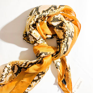 Mustard Reptile Scarf - Vault Country Clothing