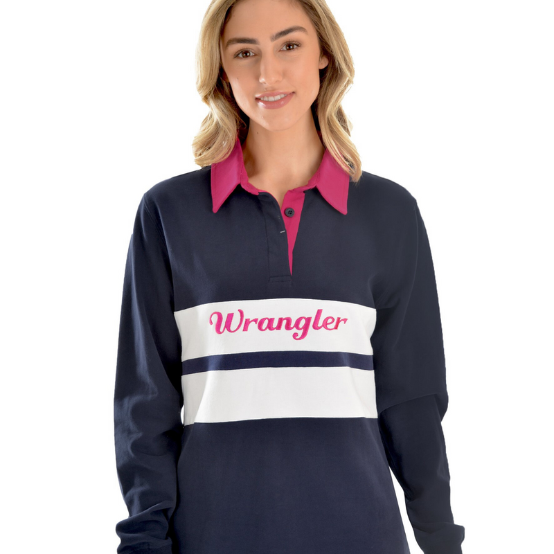 Jenna Panelled L/S Rugby - Vault Country Clothing