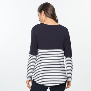 Spliced Stripe Orbital Top - Vault Country Clothing