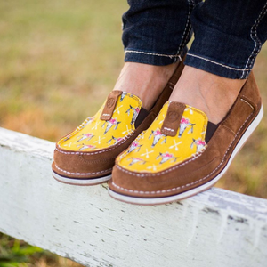 Women's Suede Mustard Steerhead - Vault Country Clothing