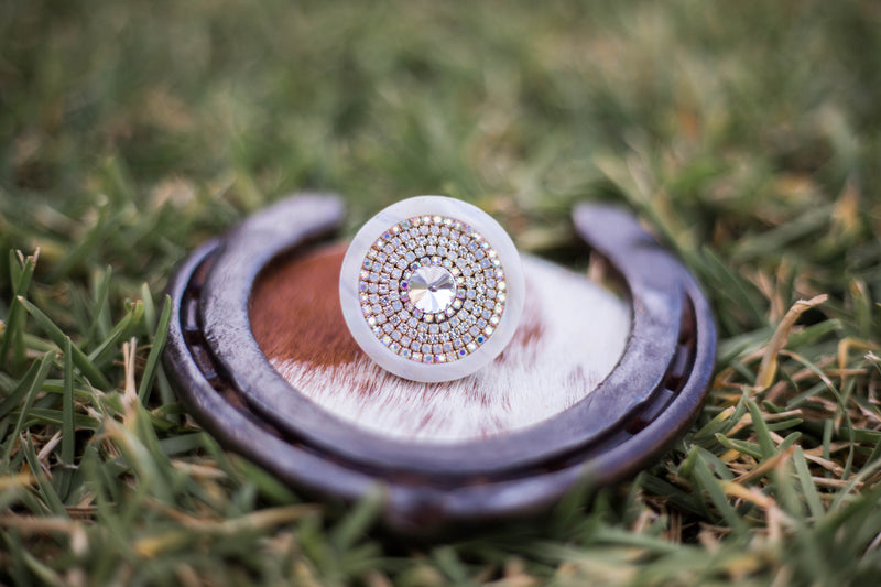 Cream Crystal Ring - Vault Country Clothing