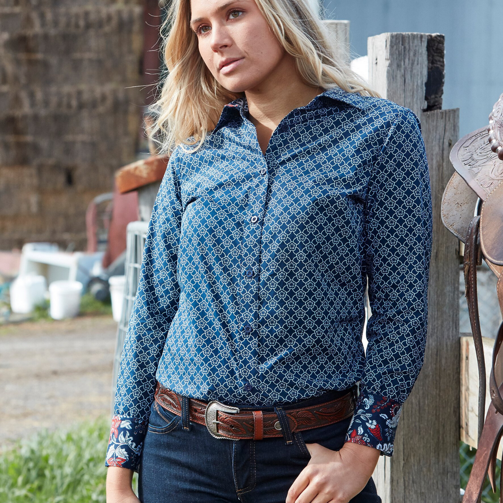 Tasmin Print Shirt - Vault Country Clothing