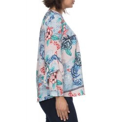 Floral Bell Sleeve Top - Vault Country Clothing