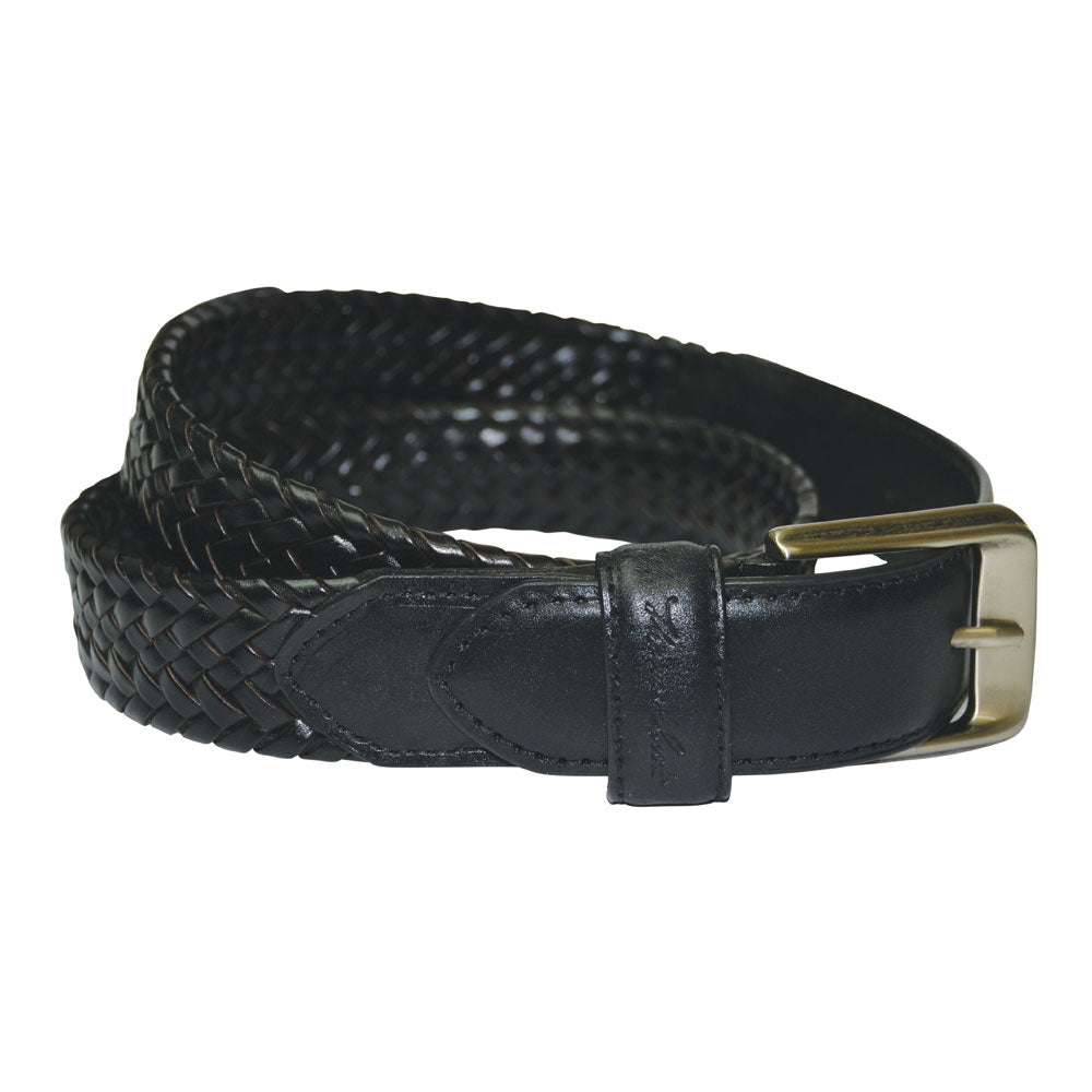 Harry Leather Braided Belt - Vault Country Clothing