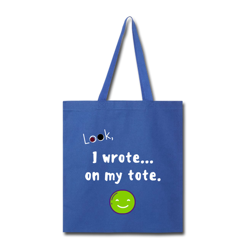 Tote Bag (Customizable) - royal blue