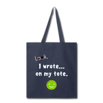 Tote Bag (Customizable) - navy