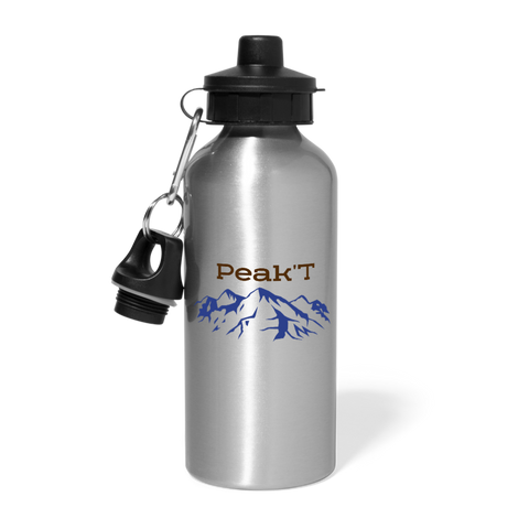 Water Bottle (Customizable) - silver