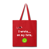 Tote Bag (Customizable) - red