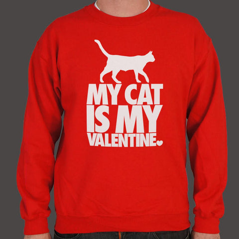 My Cat Is My Valentine Sweater (Mens)