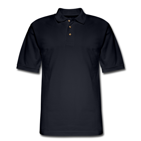 Men's Pique Polo Shirt (Customizable) - midnight navy