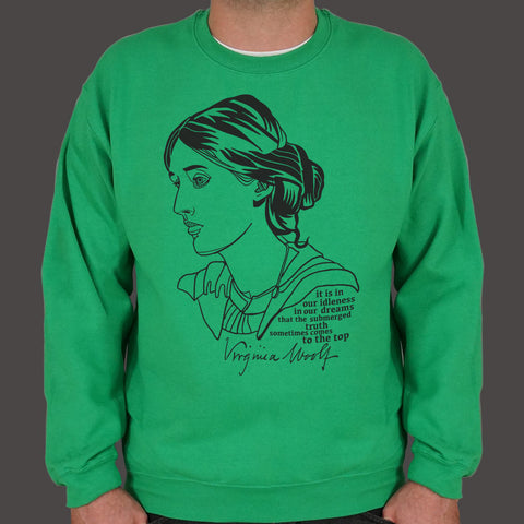 Virginia Woolf Quote Sweater (Mens)