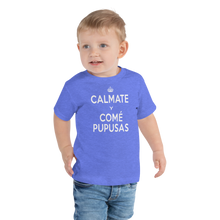 Load image into Gallery viewer, Toddler Short Sleeve Tee - CALMATE Y COME PUPUSAS
