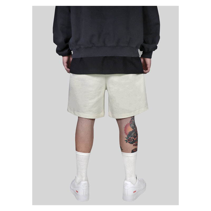 FRENCH TERRY SHORTS - CREAM