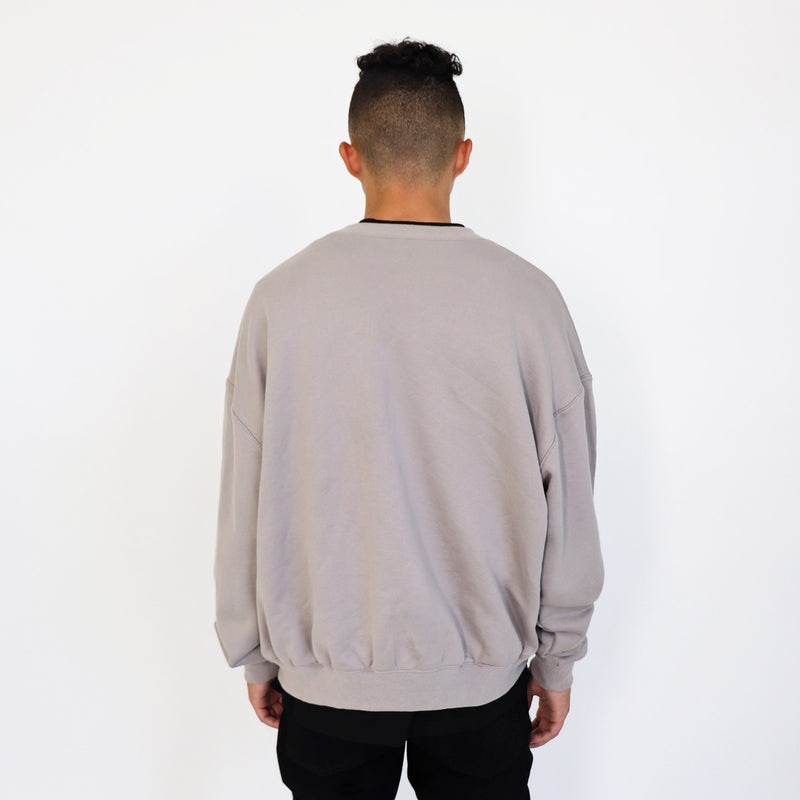 (FINAL SALE - US ONLY) ULTRA-HEAVYWEIGHT CREWNECK - STONE GRAY