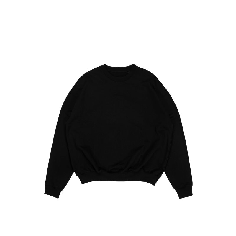 ULTRA-HEAVYWEIGHT CREWNECK - BLACK
