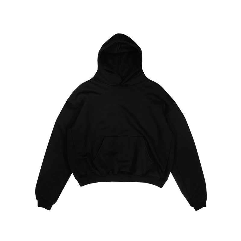 ULTRA-HEAVYWEIGHT HOODIE - BLACK