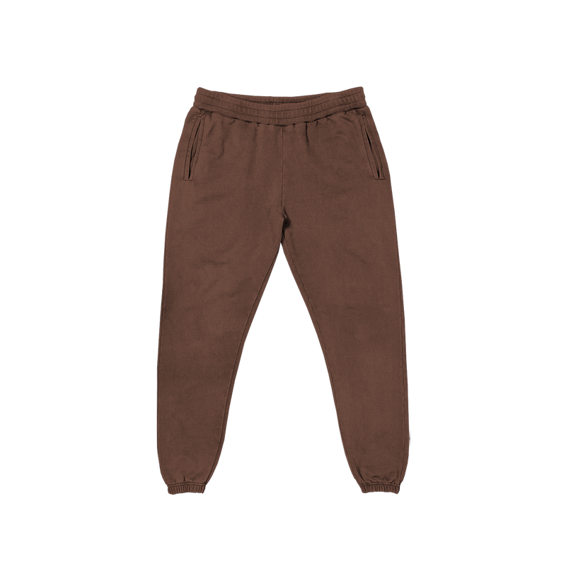 FRENCH TERRY SWEATPANTS - VINTAGE BROWN