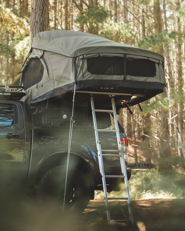 Crow's Nest Extended Rooftop Tent - Green