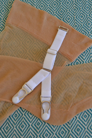 split Y-strap garter suspender clip by pip and pantalaimon removable adjustable replacement 20mm wide