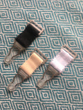short suspender clips suspender straps garter clips garter straps for girdles and stockings. steel and strong Black white or biscotti beige 20mm wide extra wide