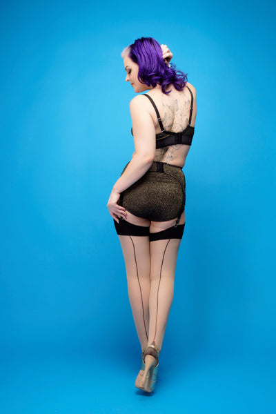seamed nylons stockings plus size by Pip and PAntalaimon retro and vintage inspired lingerie