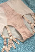 plus size plush biscotti beige skin nude high waisted knickers pantie girdle plus size pip and pantalaimon vintage lingerie retro underwear