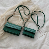 Shih - Crocodile Clutch Crossbody Handbag - Blue Specs & Co.