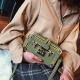 Shih - Treasure Box Crossbody Handbag - Blue Specs & Co.
