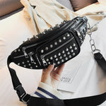 Nuisance -  Glam Studded Leather Waist Bag - Blue Specs & Co.
