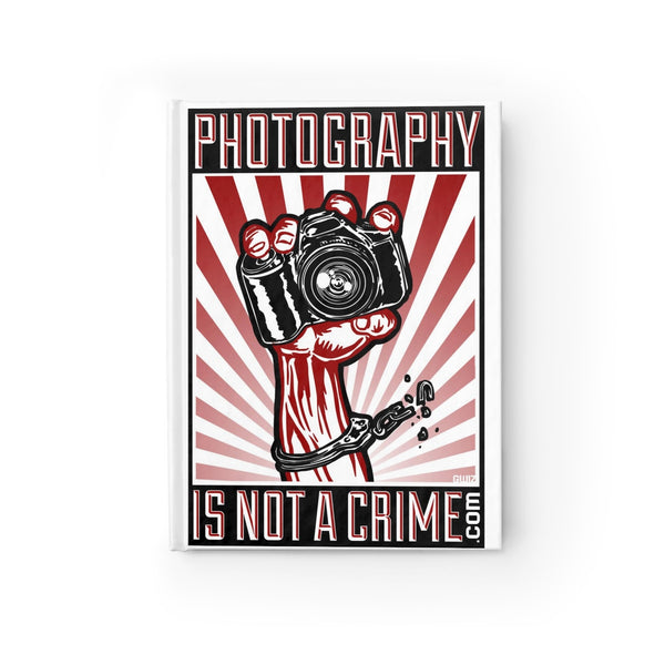 Photography is Not a Crime journal - ruled Line