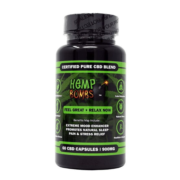 HEMP BOMBS ~ CBD CAPSULES (900MG CBD)