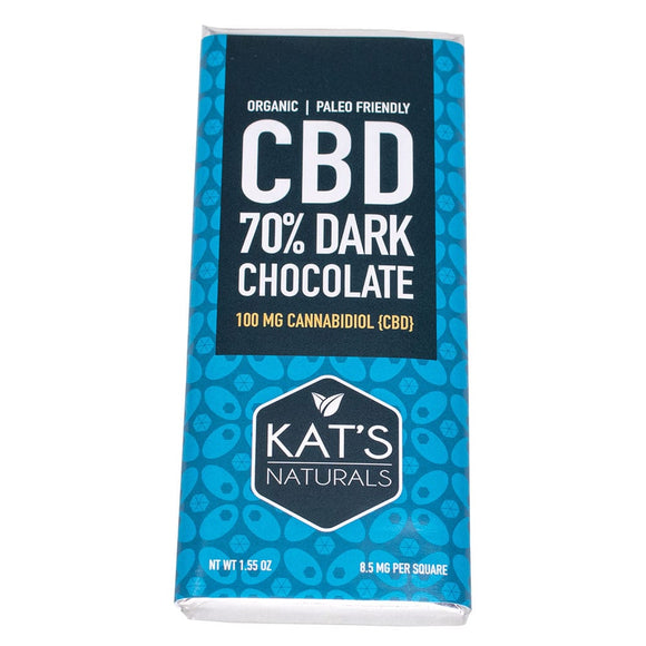 KAT'S NATURALS ACTIVATED HEMP DARK CHOCOLATE (100MG CBD)