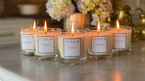 STACK candles, luxury candles, soy candles