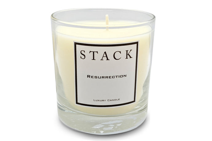 Resurrection, resurrection candle, christian candle, stack candles, luxury candle