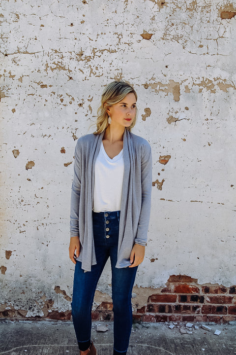 The Boyer Cardigan // Heather Grey