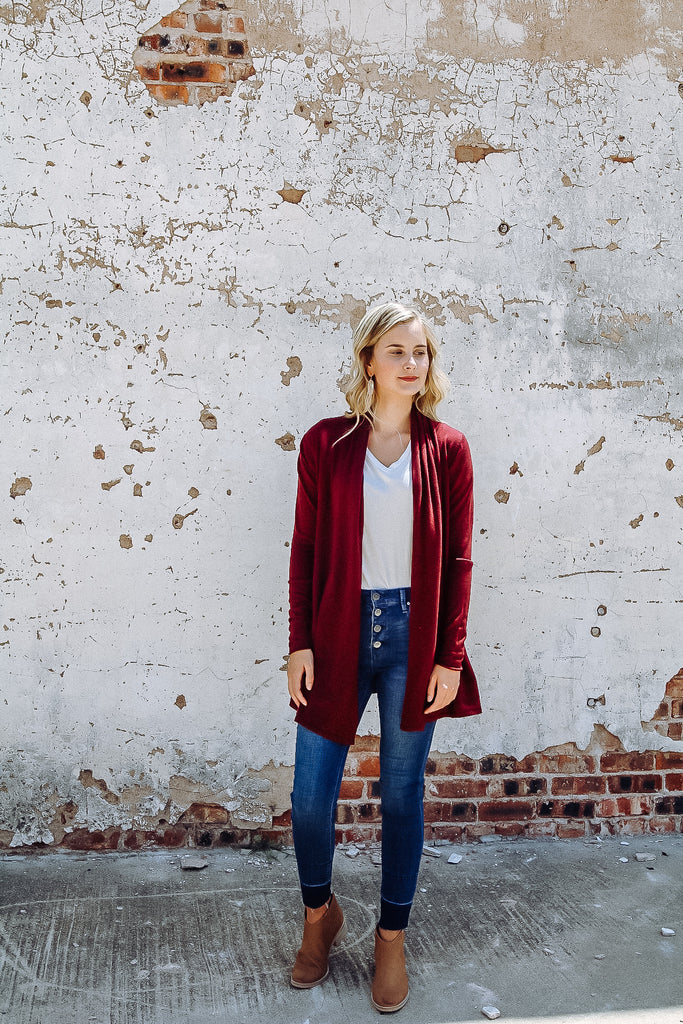 The Boyer Cardigan // Burgundy