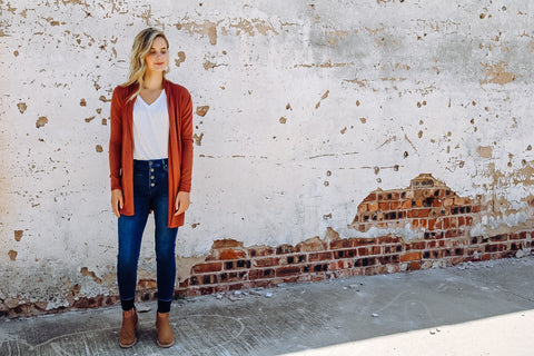 The Boyer Sweater // Rust