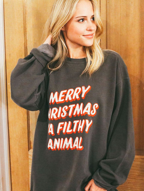 Merry Christmas, Ya Filthy Animal Sweatshirt