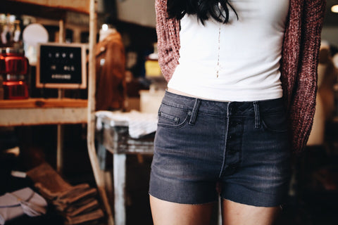 The Abria Short // Washed Black