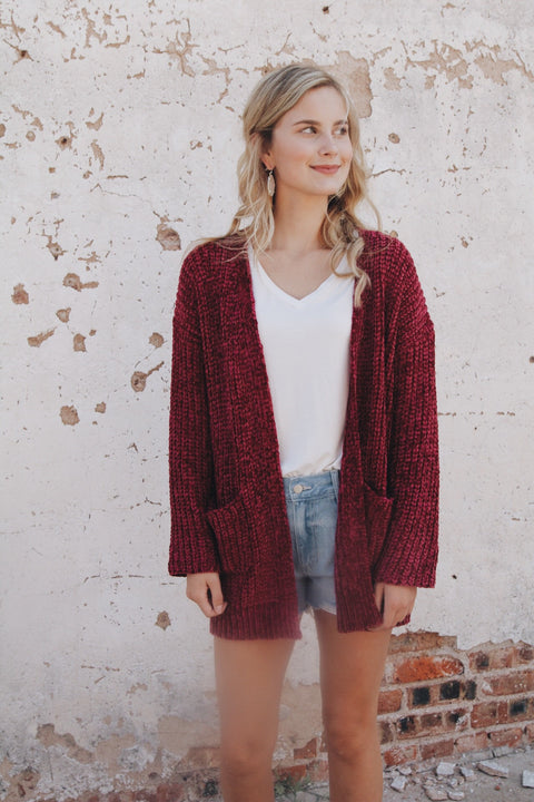 The Morgan Sweater // Cranberry