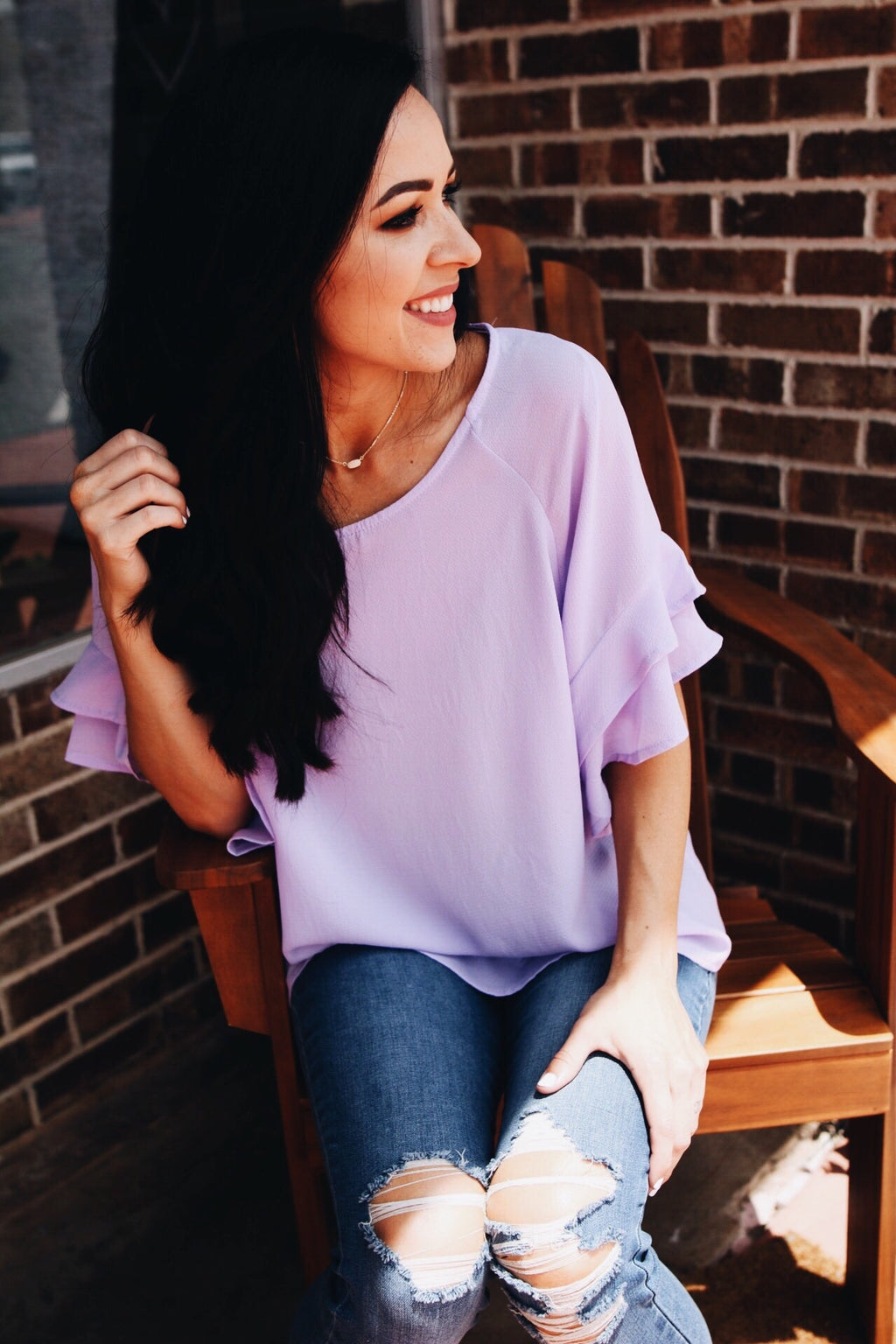 The Lyla Top // Lavender